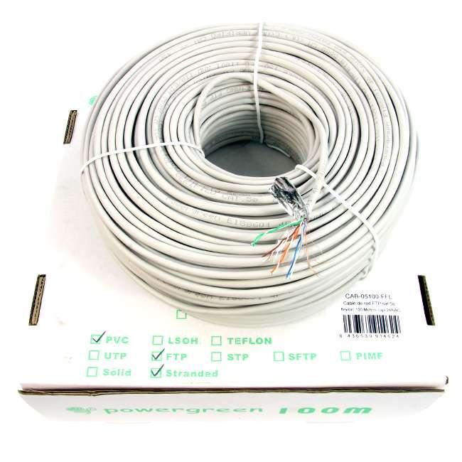 Flexible Cat 5 Wire : Bobina de cable cat e ftp metros flexible caja awg