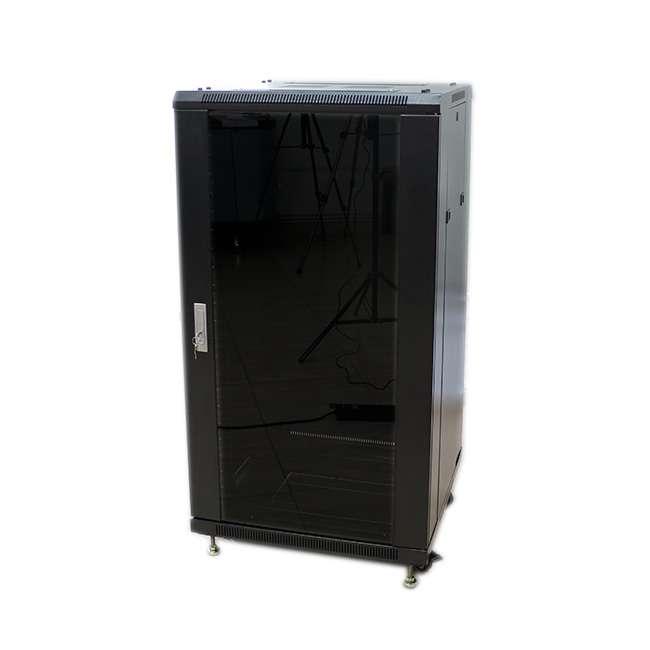 Armario rack 32u 60x100 con puerta de cristal y puerta - Armario con puertas de cristal ...